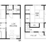羽曳野市東阪田 間取図